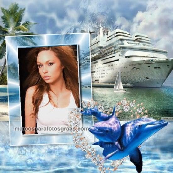 marcos de fotos de crucero con delfines