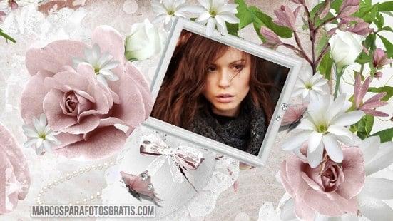 marco para fotos con flores