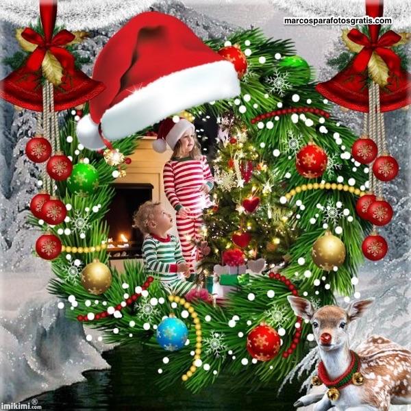 mejores marcos de navidad con adornos