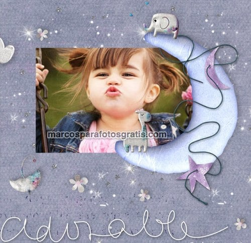 marcos de fotos con la palabra adorable y adornos