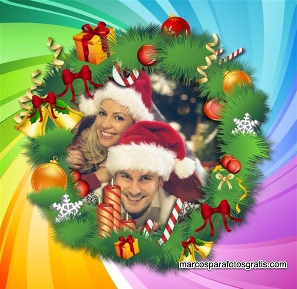rosca navidad para puerta
