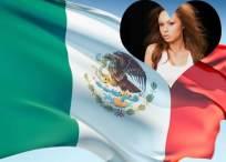 Marco de fotos con la bandera de México