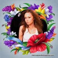 3 modelos de Marcos con flores