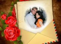 Editar fotos de tu pareja con este marco de amor y rosas