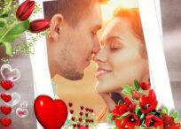 3 modelos de marcos de amor con rosas para tus fotos