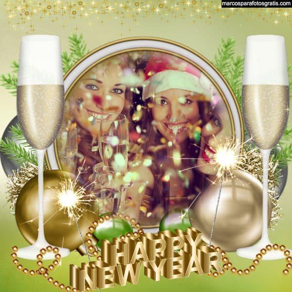 marco de fotos ano nuevo gratis