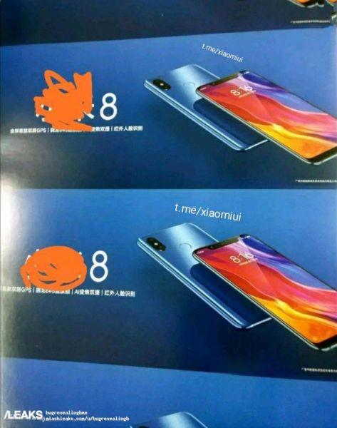 diseño Xiaomi Mi 8