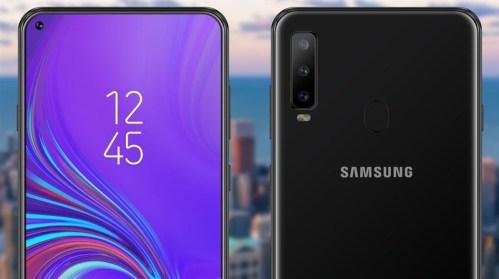 Samsung Galaxy A8s se ha filtrado con interesante diseño en su pantalla