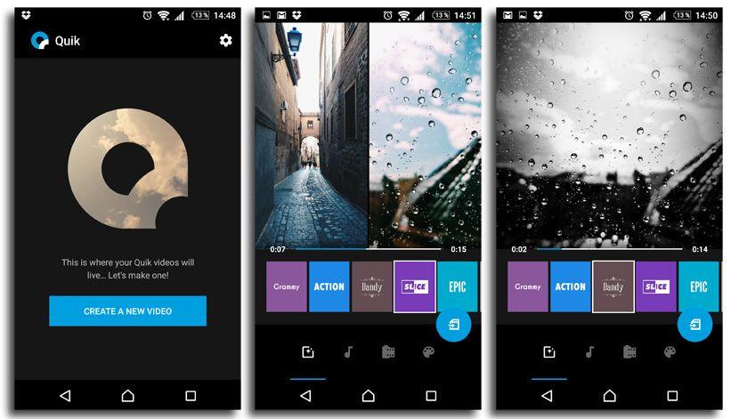 apps de video para tu smartphone-Quik