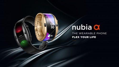 Nubia Alpha: el nuevo teléfono wearable con pantalla flexible
