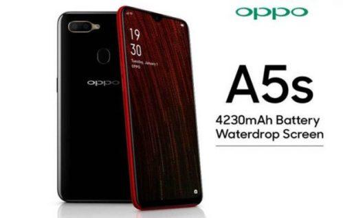 Oppo A5s presentado con batería de 4230 mAh y notch Waterdrop