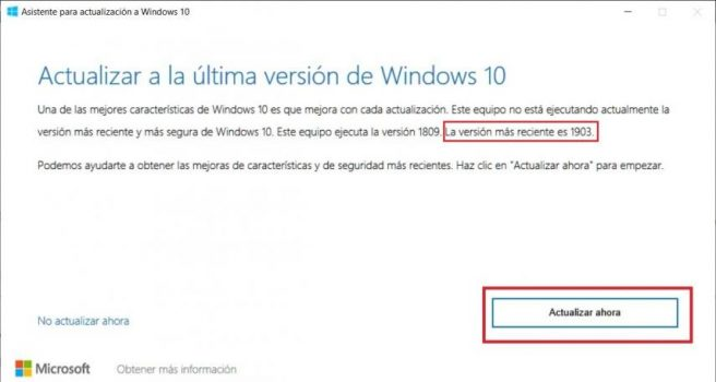 Windows 10 May 2019 Update Instalar actualización de mayo
