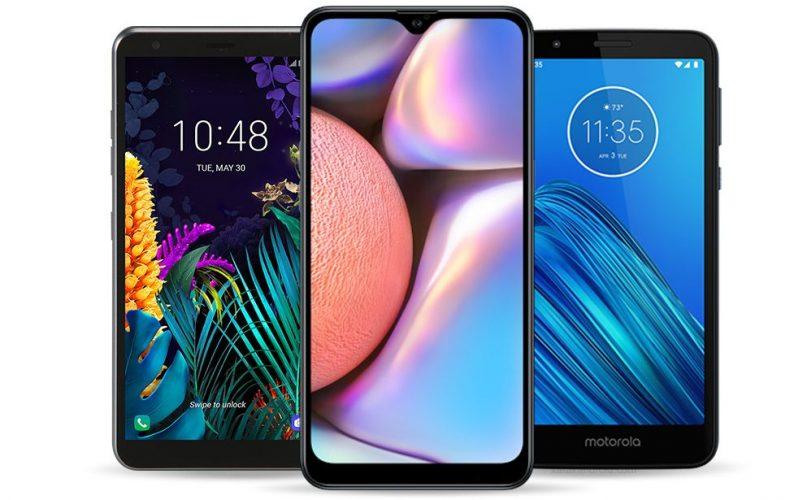 Galaxy A10s Moto E6 LG X2 (2019) características