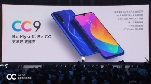 Xiaomi CC9 y CC9e ya son oficiales: características y precios