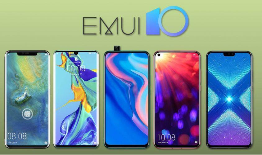 Móviles con EMUI 10 basado en Android Q