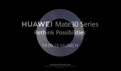 Huawei Mate 30 destacado en vídeo promocional previo a su lanzamiento