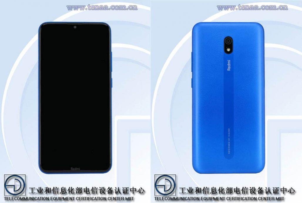 Xiaomi Redmi 8A TENAA especificaciones