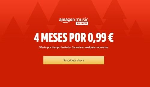 Amazon Music Unlimited está en oferta: disfruta de cuatro meses por 1€