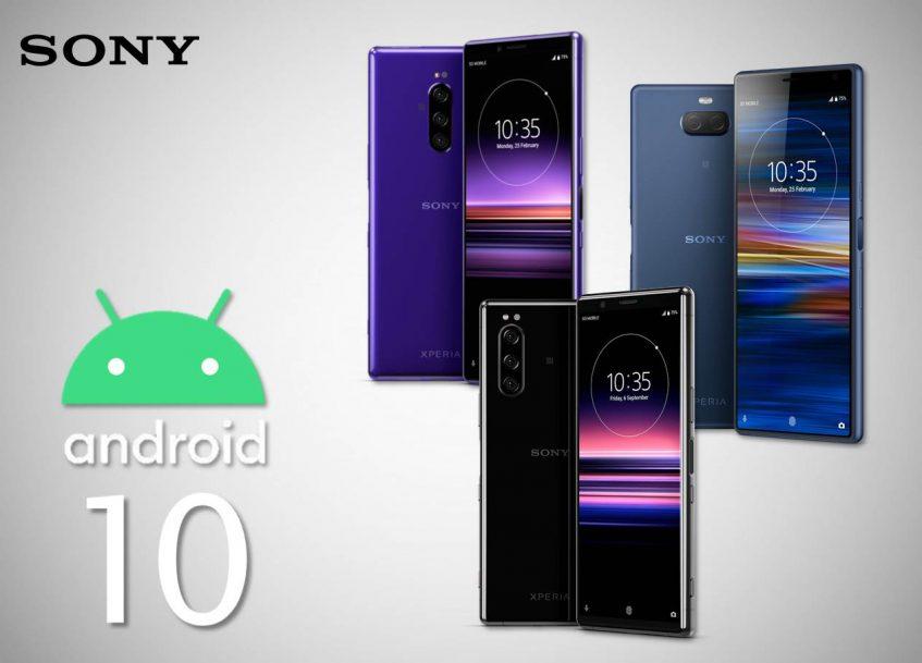 Teléfonos Sony con Android 10