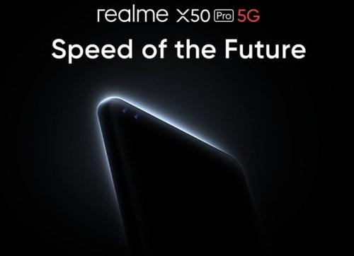 Realme X50 Pro 5G llegará con carga rápida de 65W y pantalla de 90Hz