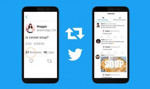 Cómo mirar los retweets con comentarios en un solo lugar (iOS y Android)