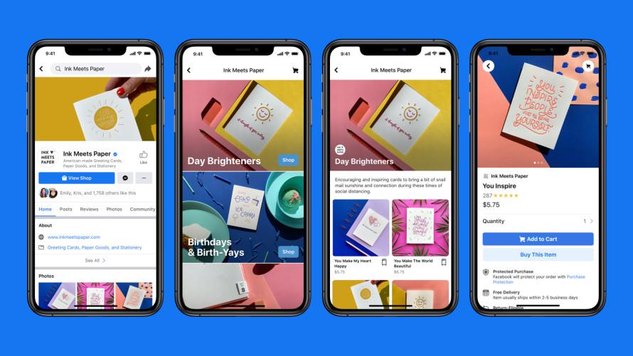 Facebook Shops, plataforma de ventas