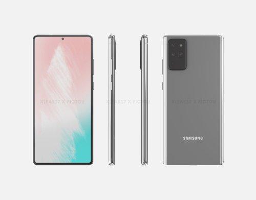 El Samsung Galaxy Note 20 al completo en este render