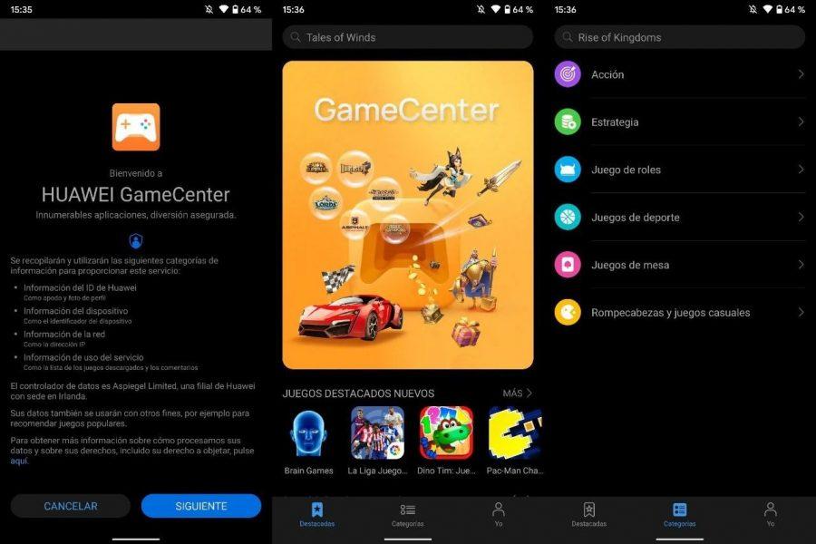 Aplicación Huawei GameCenter, AppGallery España
