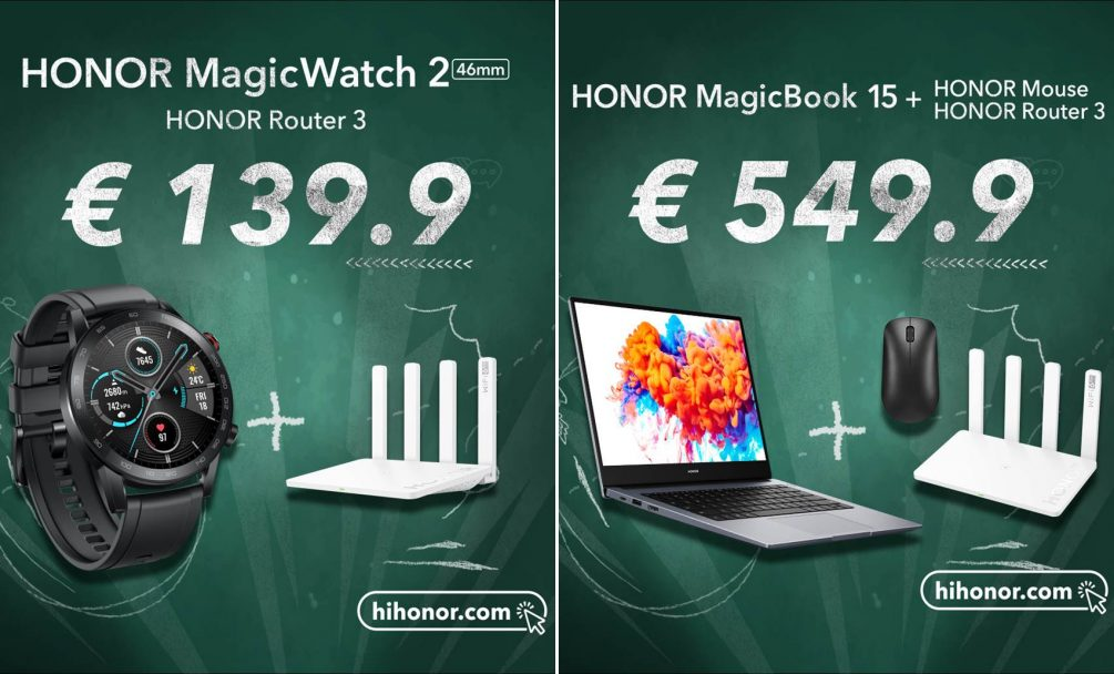 Ofertas de regreso a clases, Honor Magic Watch 2 MagicBook 15 Honor 9X Pro