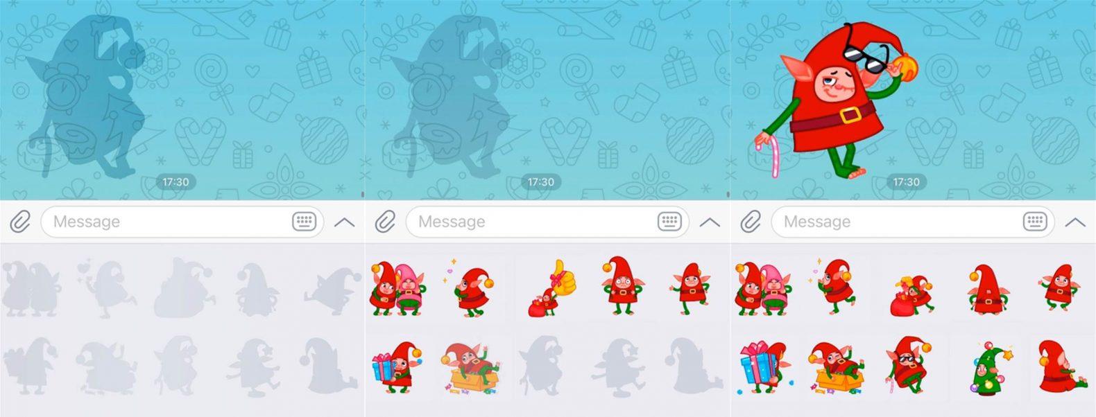 Novedades de Telegram v7.3 contorno de stickers
