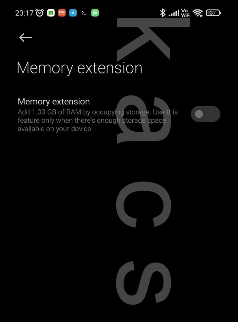 Móviles de Xiaomi con RAM extendida virtual