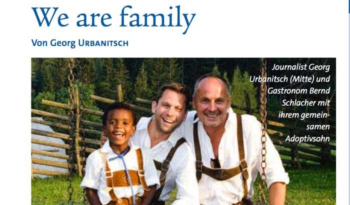 CATTEDRALE DI VIENNA. SPOT SU FAMIGLIA GAY. LUI, LUI E UN FIGLIO (ADOTTIVO)