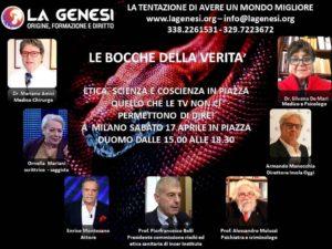 La Genesi, le Bocche della Verità. Oggi a Milano, dalle 15.00 alle 18.30