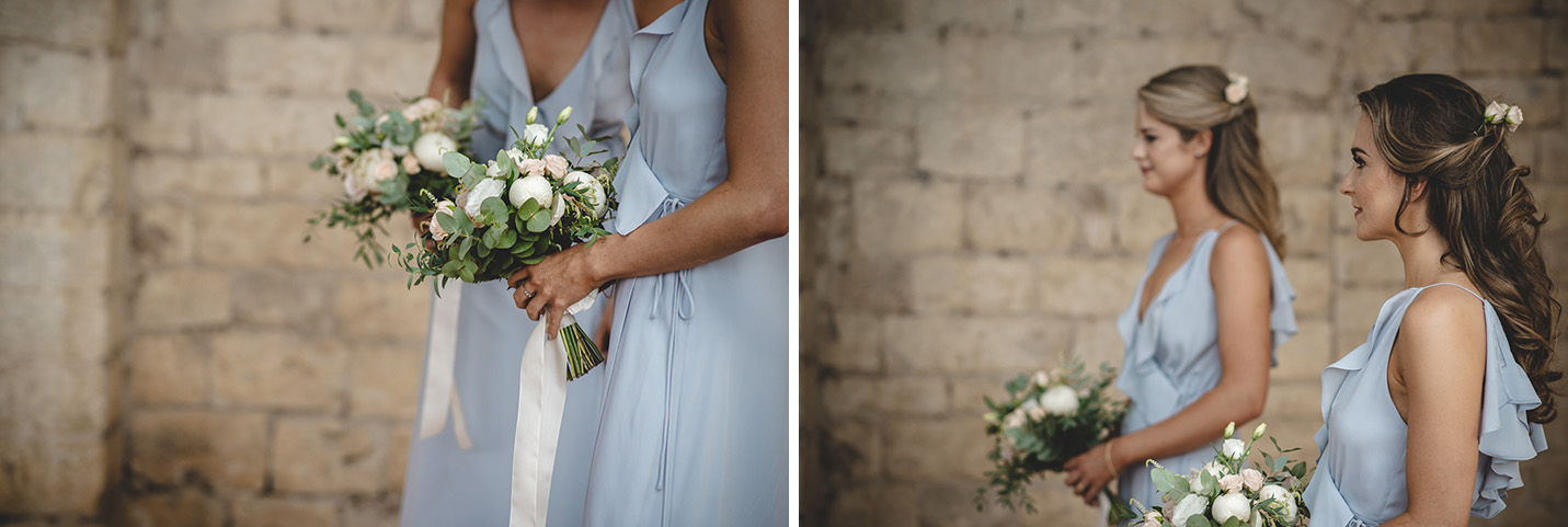 Bridesmaid for a wedding in florence