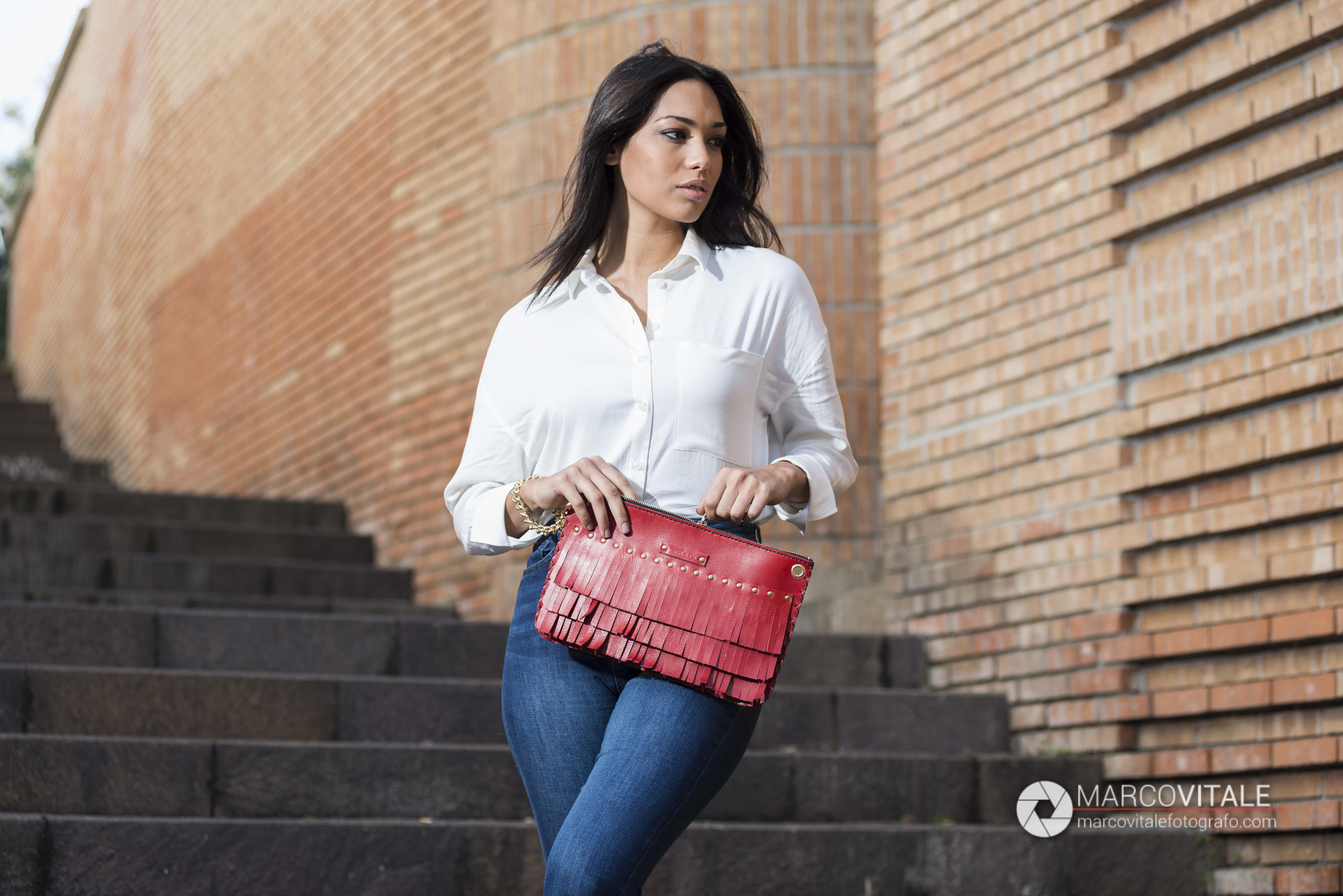 Servizio fotografico di moda per borse