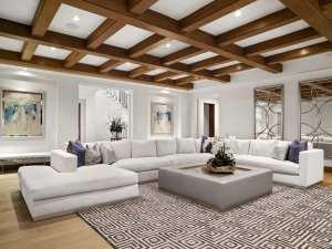 Crystal Cove Interior Design Bonus Room, Elegant bonus room interior design, Crystal Cove large estate interior.