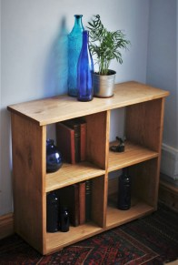 Handmade to order in custom sizes in our Somerset workshop by Marc Wood Joinery, this solid Oak bookcase and bookshelves has been finished in a rustic Danish Oil.