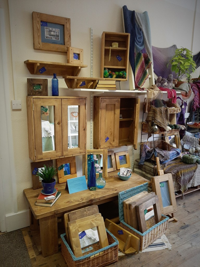 A new Emporium style 'pop up' shop has just opened in Ilminster offering something a bit different with a collective approach and a variety of items including handmade wooden furniture, mirrors, picture frames by Marc Wood Joinery. The shoppers of South Somerset can visit and buy directly from Marc & Rachel Wood the furniture designer-makers, with custom orders available.
