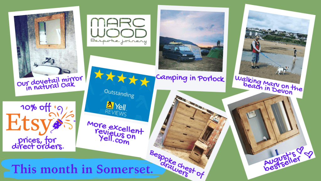 Marc Wood Joinery handmade sustainable wooden picture frames, mirrors and custom handmade modern rustic farmhouse furniture in Somerset Blog News August 2020
