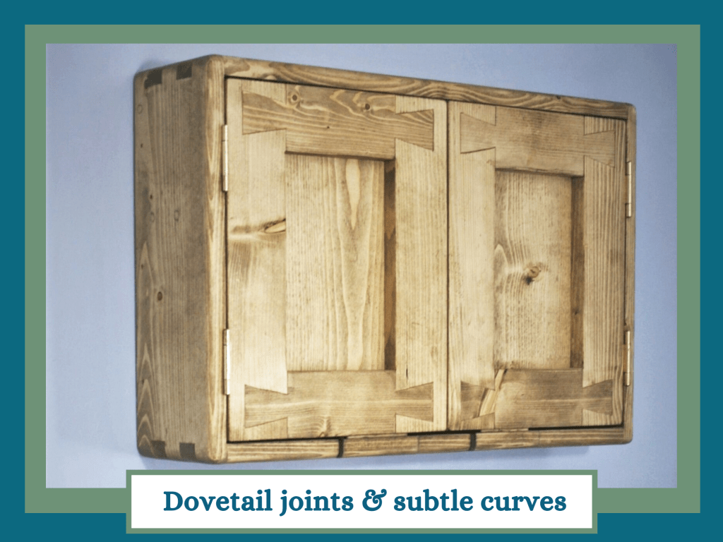 At Marc Wood Joinery UK we use traditional artisan techniques like dovetail joints and subtle curves for our modern rustic furniture.