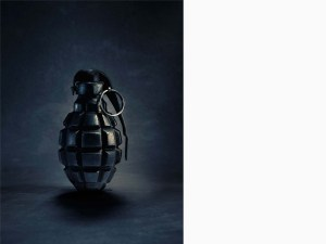 Hand; grenade; dark; background; black; safety; pin; insurance; amsterdam; the netherlands