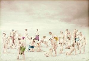 Studio; Amsterdam; The Netherlands; woman; women; breast; cancer; pink; ribbon; nude; naked; painting; Luca Signorelli; soft; colours; colors; vrouw; vrouwen; borst; kanker; naakt; schilderij; zachte; kleuren; licht