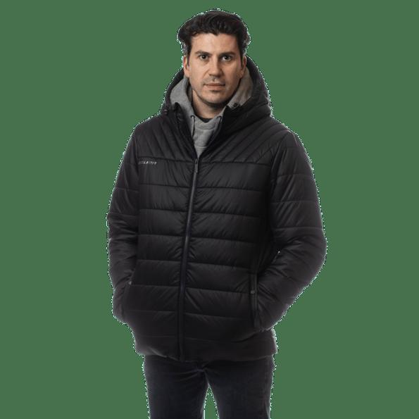Bauer Supreme Kapucnis Puffer Kabát fekete