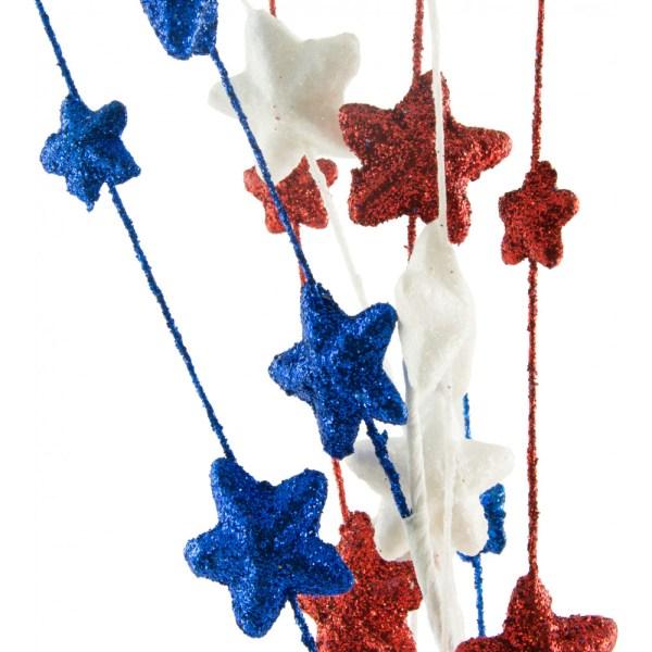 "Glitter Star Spray: Red, White, Blue (35"") [XS5539P9 ..."