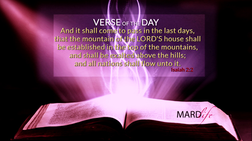 Verse Of The Day: Isaiah 2:2-5