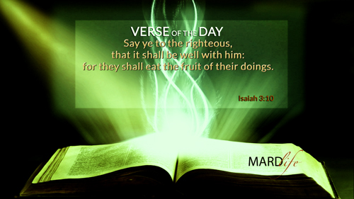 Verse Of The Day: Isaiah 3:10-11