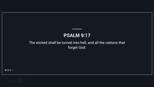 Verse Of The Day: Psalm 9:17-20