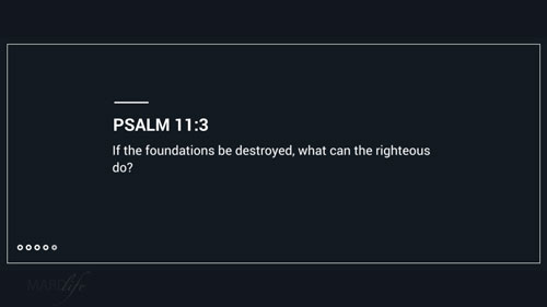 Verse Of The Day: Psalm 11:1-7