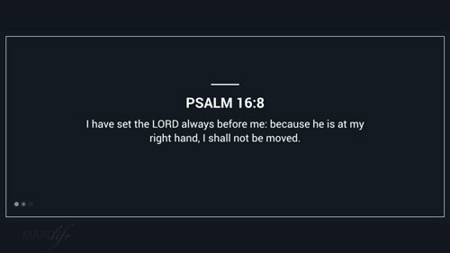Verse Of The Day: Psalm 16:8-11