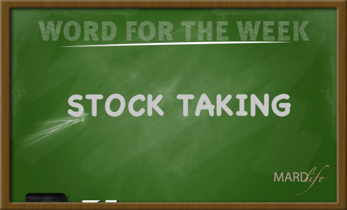 Stock Taking (Word For The Week)